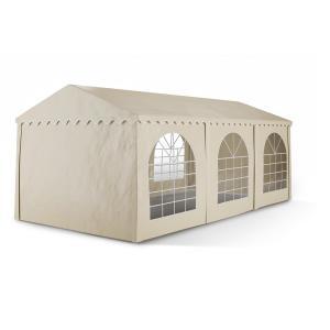 Summerfest 3 x 6 m 500 g / m² Garden Party Tent Marquee PVC Waterproof Galvanised Beige 3 x 6 m / galvanised / beige