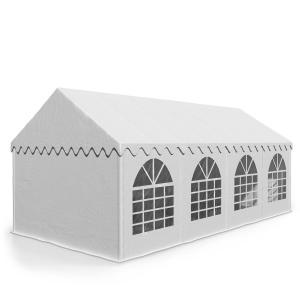 Sommerfest 4x8m 500 g/m² partytält PVC vattentätt förzinkat vit 4 x 8 m / galvaniserad / vit