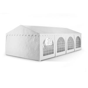 Summerfest 4 x 8 m 500 g / m² Garden Party Tent Marquee PVC Waterproof Galvanised White 4 x 8 m / galvanised / white