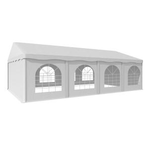 Sommerfest 5x8m 500 g/m² partytält PVC vattentätt förzinkat vit 5 x 8 m / galvaniserad / vit
