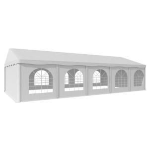 Sommerfest 5x10m 500 g/m² Carpa de fiestas Carpa PVC impermeable galvanizado 5 x 10 m/galvanizado/blanco