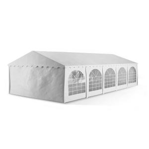 Summerfest XXL Outdoor Garden Party Tent Marquee PVC Waterproof Fire Retardend White 5 x 10 m / fire-resistant / white