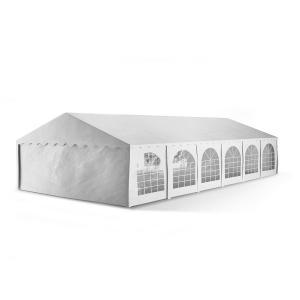 Summerfest XXXL Outdoor Party Tent Marquee PVC Waterproof Galvanised White Fire retardend 6 x 12 m / fire-resistant / white