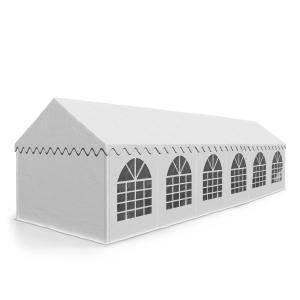 Sommerfest 6 x 12 m 500 g/m² juhlateltta PVC vaikeasti syttyvä, valkoi valkoinen