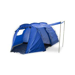 Jomida Tente de camping tunnel 4 places 260x150x410cm 3000mm -bleu Bleu