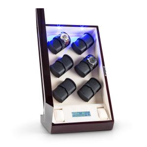 Klingenthal Watch Winder Right-Left-Run 12 Watches LED Touch Mahogony Pure Handmade Mahogany