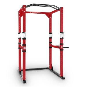 Tremendour Power Rack Home Gym Steel Red White