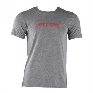 Tränings-T-shirt för män storlek XL grå melerad Grå | XL