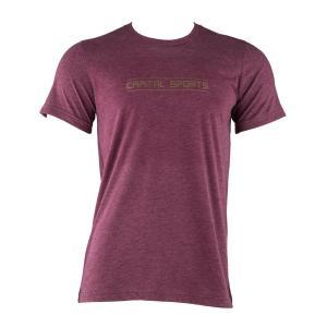 T-shirt treningowy męski rozmiar L kasztanowy Lila | L