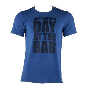 Tränings-T-shirt för män storlek L true royal Blå | L