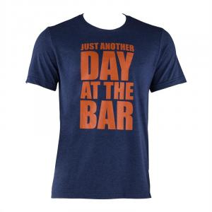 Trainings T-shirt voor mannen maat S Navy dark_blue | S
