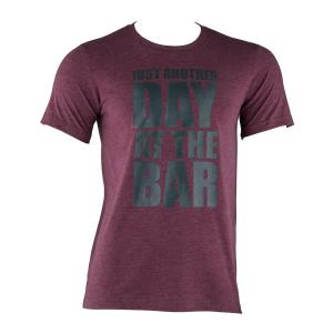 Trainings T-shirt voor mannen maat S bordeaux rood Mahonie | S