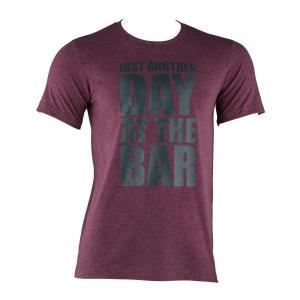 Koszulka treningowa T-shirt męski rozmiar L kasztanowy Mahoń | L