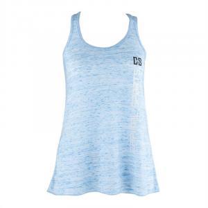 Koszulka treningowa top damska rozmiar XL niebieska marmurek Niebieski | XL