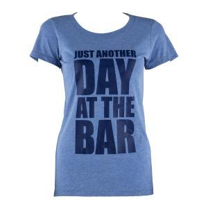 T-shirt treningowy damski rozmiar L niebieski trzykolorowy Niebieski | L