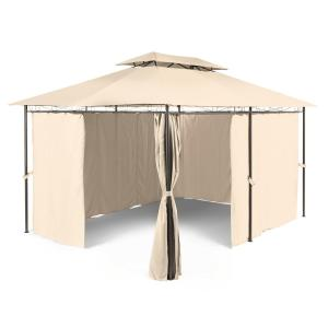 Grandezza tuinpavillon partytent 3x4m staal Polyester beige Beige