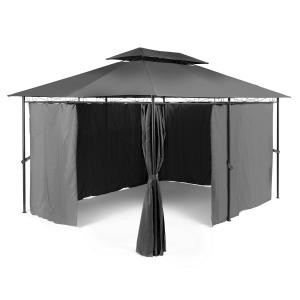 Grandezza trädgårdspavillion partytält 3x4m stål polyester mörkgrå
