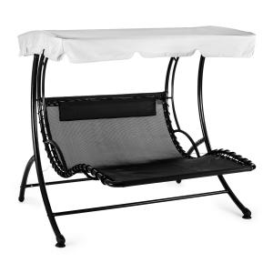 Aristo Swing Sun Lounger Garden Swing Incl. Cushion Grey