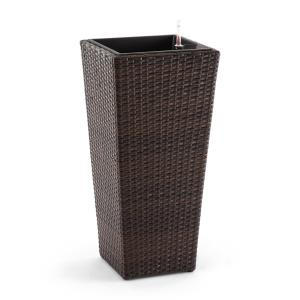 Primaflor Hydro Planter 37x76x37 cm Irrigation Polyrattan Bicolor Brown