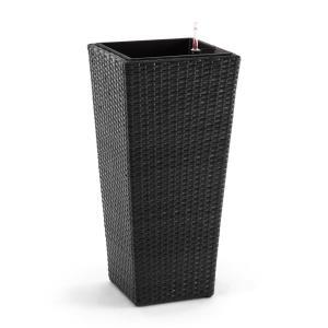 Primaflor Hydro Vaso per Piante 37x76x37 cm Irrigazione Polyrattan antracite grigio