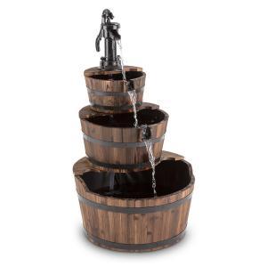 Cascada 2G fontanna kaskadowa ogrodowa wodotrysk 12W 800l/h drewno