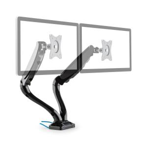 LDT09-C012USB Dual Monitor Desk Mount LED LCD 2xUSB incl. Mounting Kit