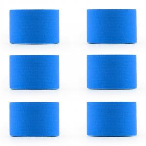 Bondies Kinesiology Tape 6 Rolls 5 cm Wide, 5 m Long Elastic Blue