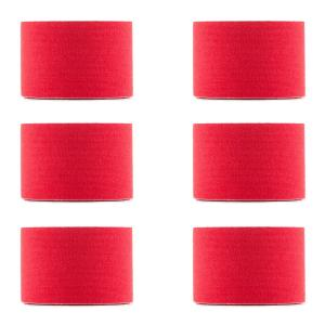 Bondies Kinesiology Tape 6 Rolls 5 cm Wide, 5 m Long Elastic Red