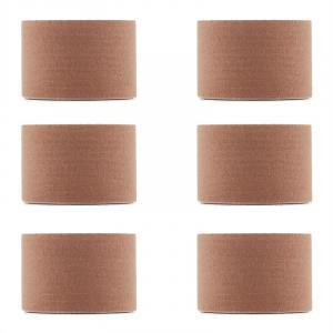 Bondies Kinesiology Tape 6 Rolls 5 cm Wide, 5 m Long Elastic Beige