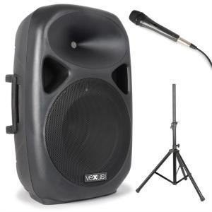 SPS152 zestaw głośnikówPA maks. 600 watówBluetooth USB SD MP3 AUX statyw mikrofon