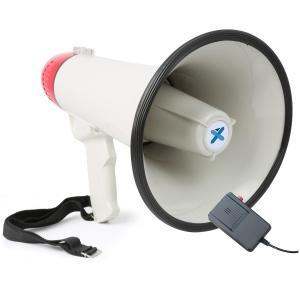 MEG040 Megafon 40W inspelningsfunktion siren mikrofon batteridrift rem