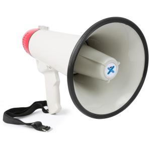 MEG045 Megaphone 40W Recording Function Siren USB SD AUX Battery Operation Strap
