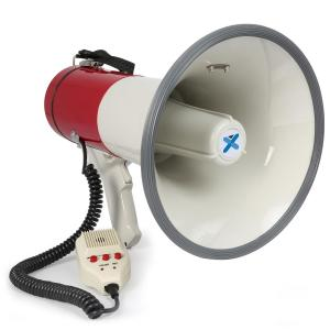 MEG050 Megaphone 50W Recording Function Siren Microphone Battery Strap