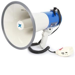 MEG065 megafoon 65 Watt opnamefunctie sirene USB SD AUX accu riem