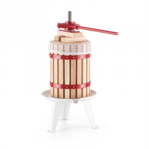 oneConcept Berrymore L Fruit Press Wine Press Juicer 6L Mechanical Ratchet Steel Wood