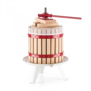 oneConcept Berrymore XL Fruit Press Wine Press Juicer 12L Mechanical Ratchet Steel Wood
