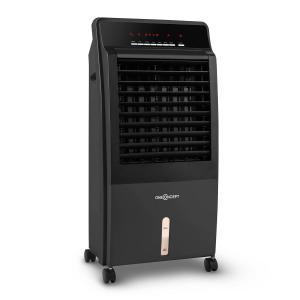 CTR-1 4-in-1 Luftkühler Ventilator Luftbefeuchter Luftreiniger 360 m³/h | 65 Watt | 8 Liter | 3 Geschwindigkeiten | Oszillation | Ionisator | Fernbedienung | mobil Schwarz