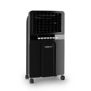 Baltic Black 3-in-1 Luftkühler Ventilator Luftbefeuchter 360 m³/h | 65 Watt | 6 Liter | 3 Geschwindigkeiten | Oszillation | Fernbedienung | mobil Schwarz