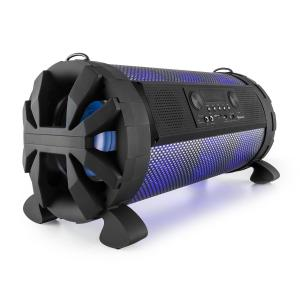 "Thunderstorm Mobile Bluetooth Speaker 120W max Battery USB SD LED 2x 20 cm (8"")"