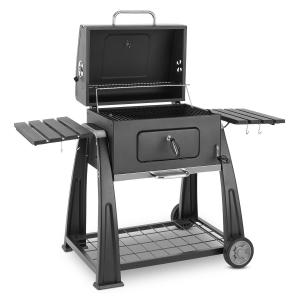 Bigfoot Charcoal Grill Smoker BBQ Grill 55 x 40 cm Steel Black