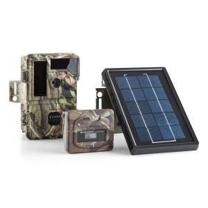 Solar Grizzly Wilderness Camera Set Black LED HD 8 MP Solar Panel