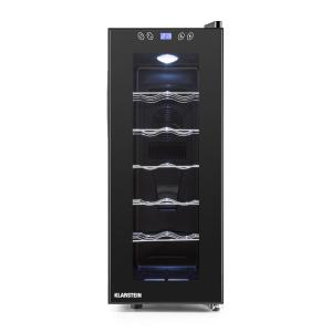 Vinamora Wine Cooler 35 Liter 12 Bottles LED Touch Black