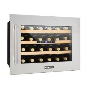 Vinsider 24D Cave à vins Encastrable 1 zone de fraîcheur 24 bouteilles Inox Argent