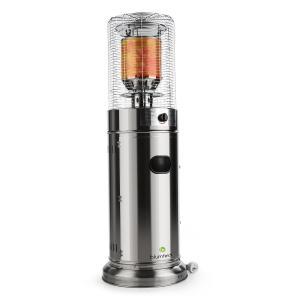 Heatwave V2A Terrasverwarmer Gas Roestvrij Staal mobiel 11 kW 800g/h Zilver