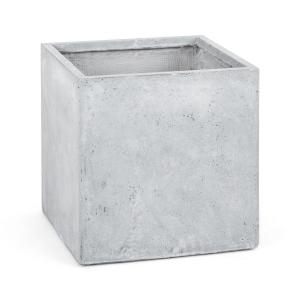 Solidflor Flower Pot Planter 50x50x50 cm Fiberton Light Grey Grey | 50 cm