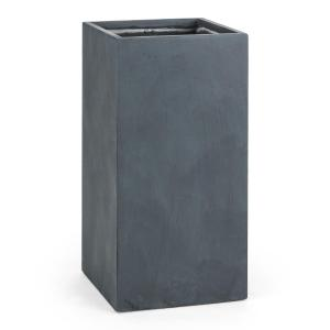 Solidflor Flower Pot Planter 40x80x40 cm Fiberton Anthracite Anthracite | 40 cm