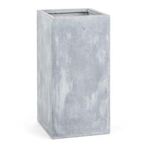 Solidflor Cubo para plantas Maceta 40x80x40 cm gris claro Gris | 40 cm