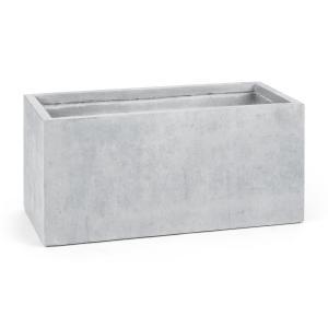 Solidfloor Vaso/Canteiro para plantas 99x46x46 cm Fiberton em antracite cinza Cinzento | 99 cm