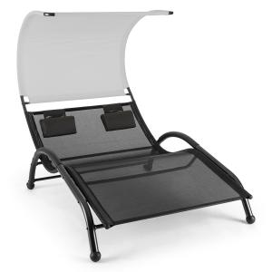Dandyland Two-seater Swinging Lounger 130x200cm Canopy Grey Grey