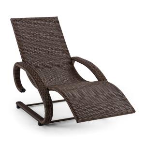 Daybreak Swinging Chair Cantilever Chair Lounger Brown Aluminum Wicker Brown